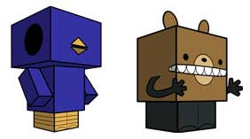 Cubee Reginald & Beartato Papercraft