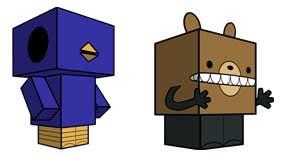 Cubee Reginald & Beartato Papercraft