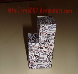 Missingno Papercraft template | cool thangs | Pinterest | Papercraft