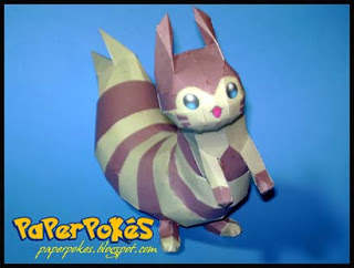Pokemon Furret Papercraft