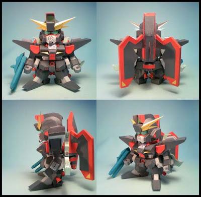 GAT-X370 SD Raider Gundam Papercraft