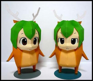 Anime Girl Christmas Reindeer Suit Papercraft