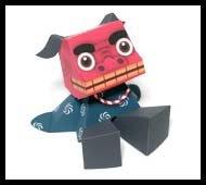 Shishimai Papercraft Toy