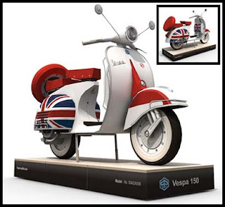 Vespa Scooter Papercraft