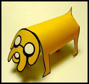 Adventure Time Jake the Dog Papercraft