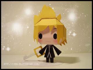 Kingdom Hearts Chibi Roxas Papercraft