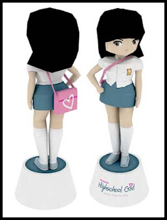 Indonesian Highschool Girl Papercraft
