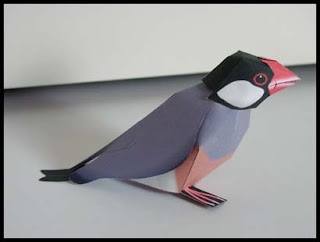 Java Sparrow Papercraft