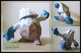 Pokemon Snover Papercraft