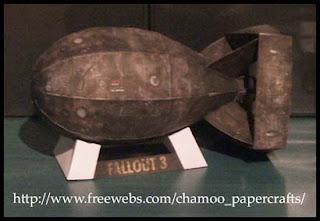 Fallout 3 Atomic Bomb Papercraft