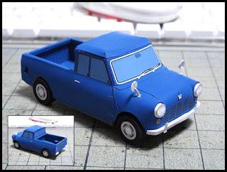 Austin Seven Mini Pickup Truck Papercraft