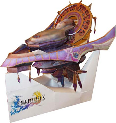 Final Fantasy X Fahrenheit Airship Papercraft