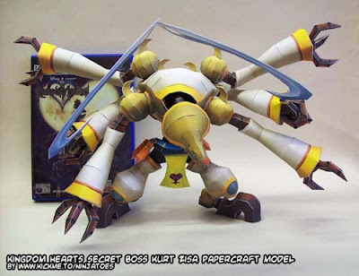 Kingdom Hearts Kurt Zisa Papercraft