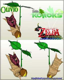 Legend of Zelda Korok Olivio Papercraft