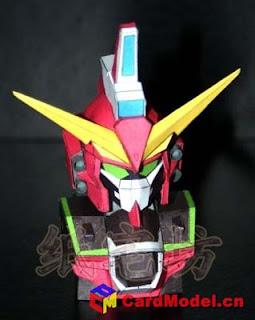 SD Infinite Justice Gundam Papercraft Bust
