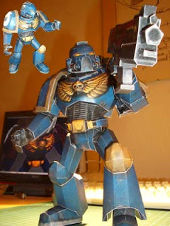 Warhammer 40K Space Marine Papercraft