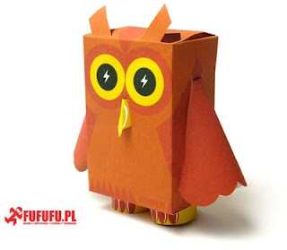 Pucha Owl Paper Toy