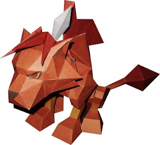 Final Fantasy Red XIII Papercraft