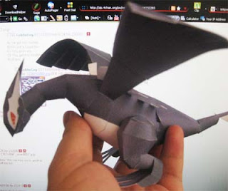 Pokemon Shadow Lugia Papercraft