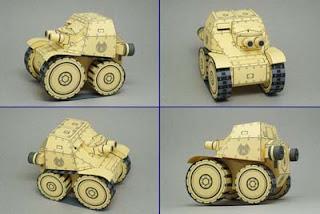 SD Carro Veloce Tank Papercraft