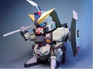 Forbidden Gundam Papercraft 1
