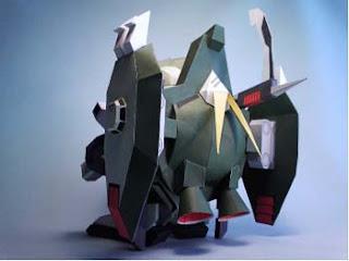 Forbidden Gundam Papercraft 3