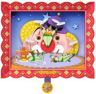 Clown Spinning Plates Papercraft