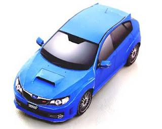 Subaru Impreza WRX STI Car Papercraft