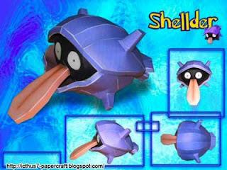 Pokemon Shellder Papercraft