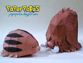 Swinub &amp; Piloswine Papercraft 