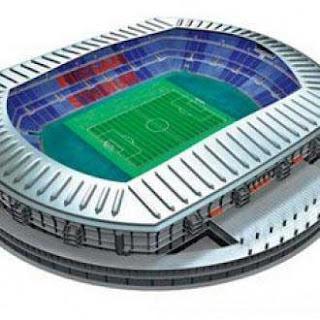Nissan Stadium Papercraft