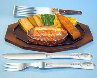 Hamburg Steak Papercraft