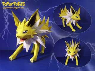 Pokemon Jolteon Papercraft