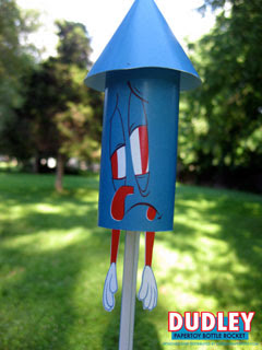 Dudley the Bottle Rocket Papercraft