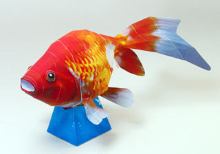 Fantail Goldfish Papercraft