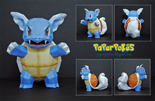 Pokemon Wartortle Papercraft