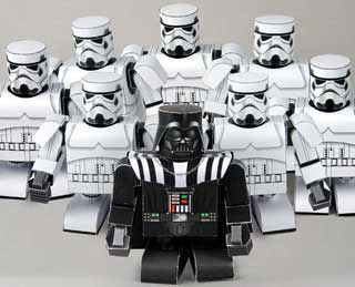 Darth Vader Papercraft with Stormtroopers