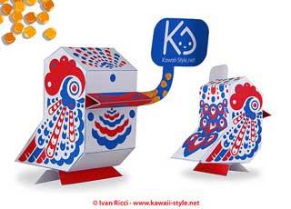 Nanibird Paper Toy