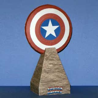 Captain America Shield Papercraft