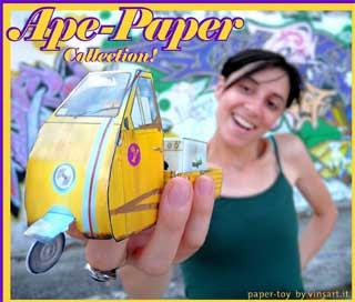 Piaggio Ape Papercraft