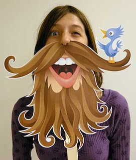 Twitter Beard Mask Papercraft