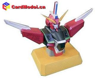 Infinite Justice Gundam Bust Papercraft