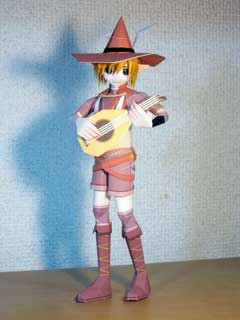 Arabiku Elf Bard Papercraft