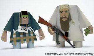 Osama bin Laden Papercraft