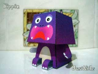 Hippy Paper Toy