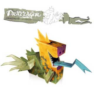 Drazzagor Dragon Papercraft