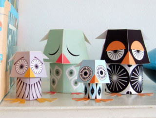 Owl Papercraft Toys