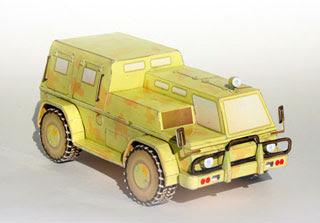 GAZ 3937 Vodnik Papercraft
