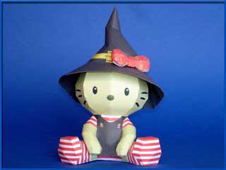 Hello Kitty Witch Papercraft