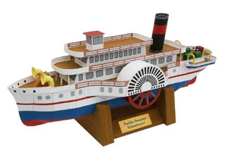 Paddle Steamer Papercraft